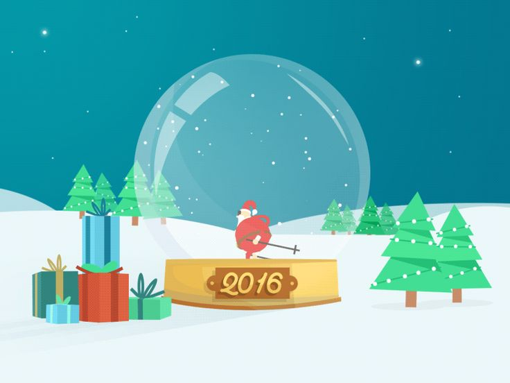 Dribbble - Santa Claus is coming ! by Tanguy CABON