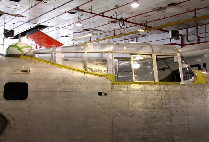 A new fabricated canopy prior to storage. Full scale Avro Arrow replica in background