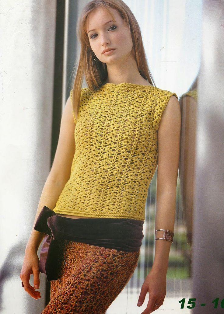Jersey y Falda a Crochet