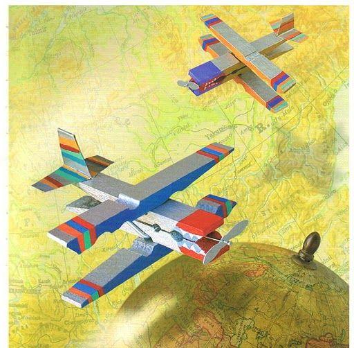 Manualidades pinzas avión
