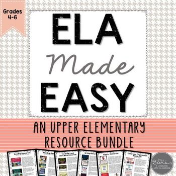 ELA Made Easy: An Upper Elementary Resource BUNDLE for Language Arts-Read to Self, Listen to Reading, Read to Someone, Writing, Word Work