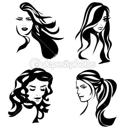 66 Best Silhouettes Hair Silhouettes Images On Pinterest