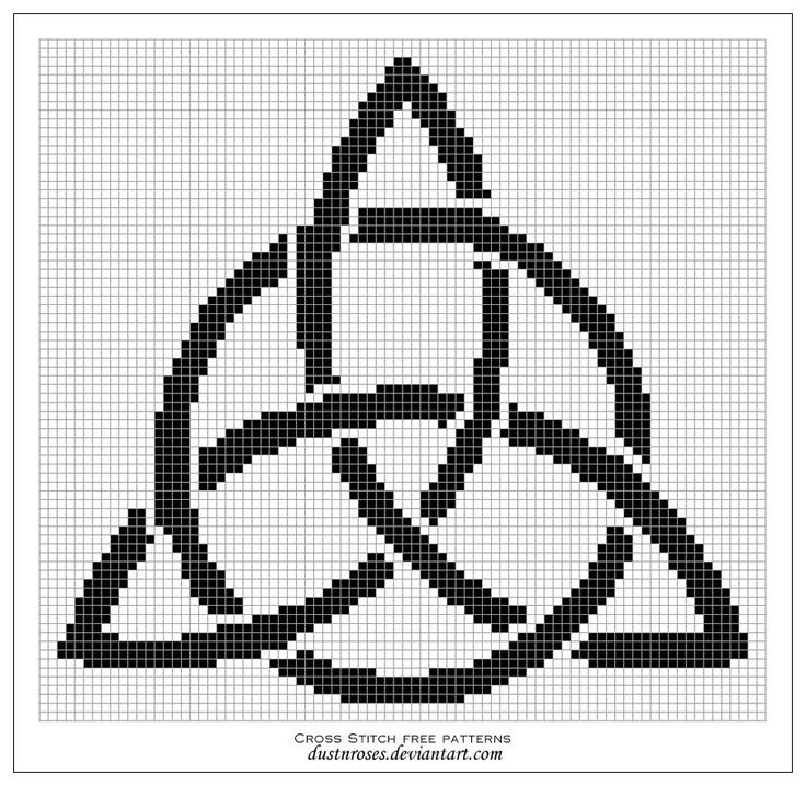 Free cross stitch pattern -  triquetra by ~dustnroses on deviantART
