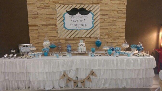 Candy buffet set up