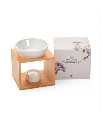 Ceramic Oil Burner Set | Lemon Blossom & Summer Moss Scent