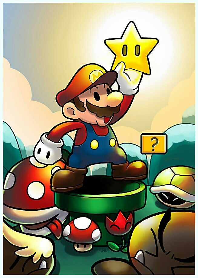 #Super #Mario #Fan #Art.