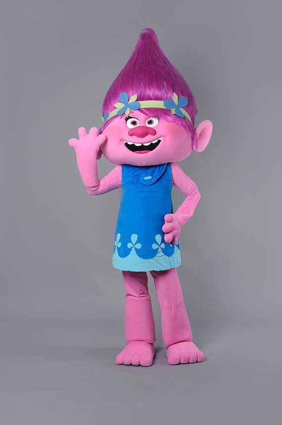 Troll Princess Rosy Mascot Costume