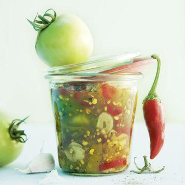 Grüne-Tomaten-Chutney