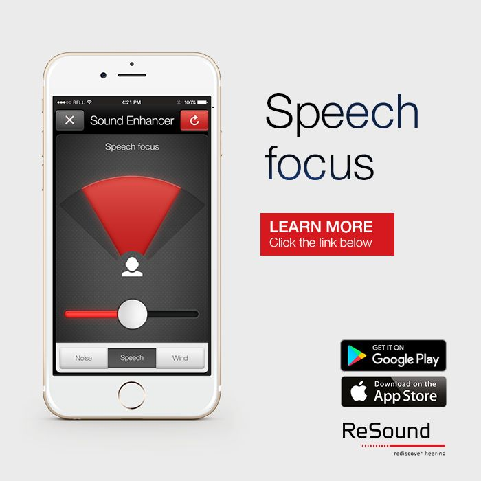 If you own a ReSound Smart hearing aid, the ReSound Smart app will enable you to adjust the width of this beam, so the speaker's words sound clearer. Visit resound.com/en-IN/hearing-aids/apps/smart-app