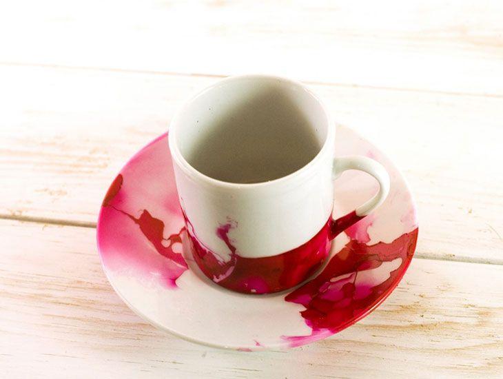 Watercolor red cup !. Un diseño moderno para decorar tu mesa. Una idea-regalo diferente. By FOOD & EVENT