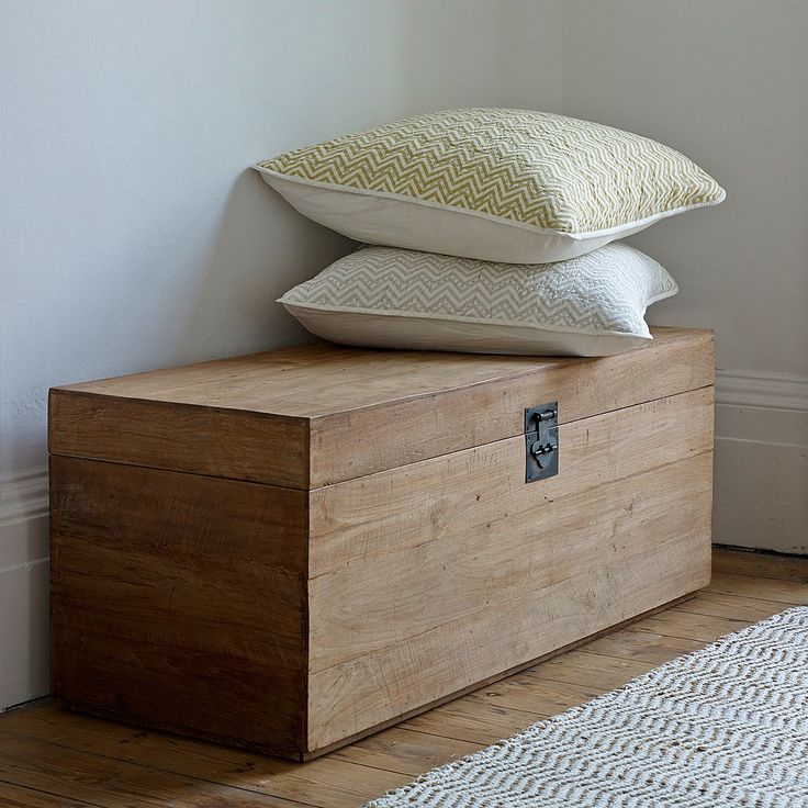 Our Sumatra blanket chests are handmade by artisans from rustic reclaimed teak in Indonesia.