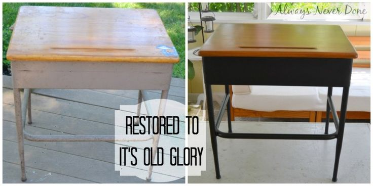 COmplete Refurbished- Desk with Tutorial via Always-never-Done #makeover @minwax