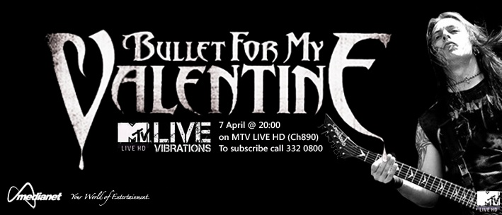BULLET FOR MY VALENTINE: MTV LIVE VIBRATIONS - MTV brings you a performance thats number one with a bullet! Join us as Bullet For My Valentine take to the stage to perform some of their biggest tracks!