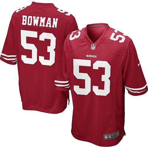 Men's Nike San Francisco 49ers NaVorro Bowman Game Team Color Jersey - NFLShop.com