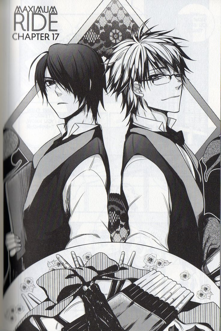 Fang and iggy from Maximum Ride. Love this... Except why does Iggy have glasses? The dude is blind, glasses won't help.