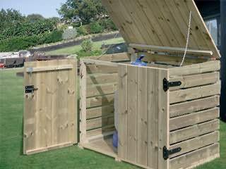 Coffre de filtration bois Gre 120 x 101 x 86mm pour piscine hors-sol