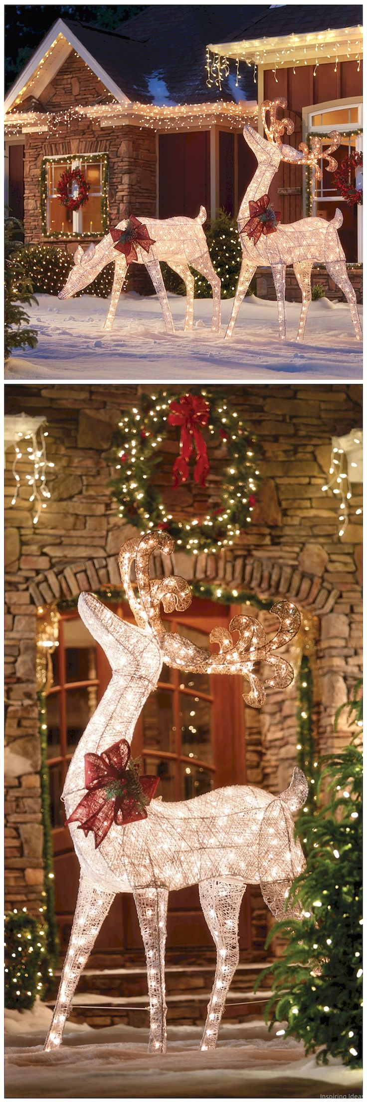 This must be the ultimate christmas yard decoration - 48 Adorable Christmas Oudoor Decorations Ideas
