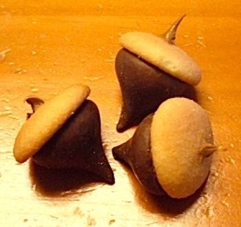 Fall Treats- 'nilla wafers, Hershey kiss wish a bit of Peanut Butter