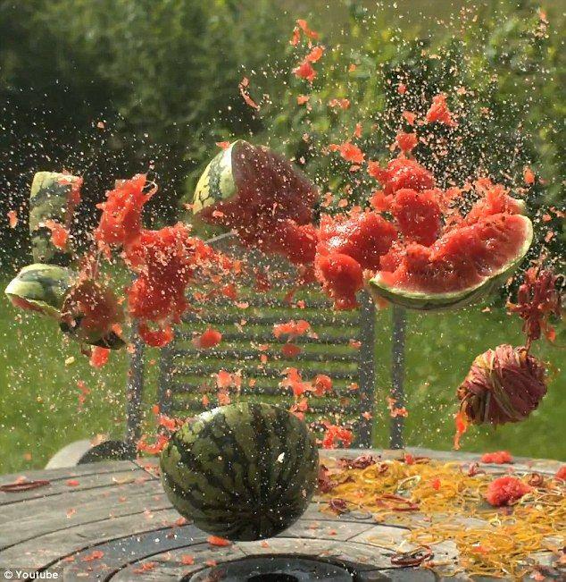 Rubber Band Watermelon Explosion