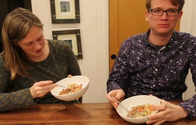 Watch: Hilarious Couple Try Gross Recipes from the 1950s