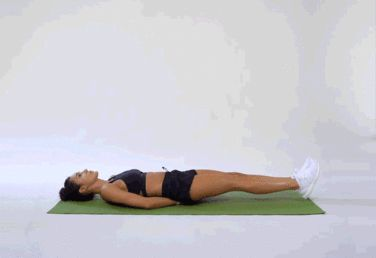 3. Straight Leg Raise #greatist http://greatist.com/fitness/free-kayla-itsines-workout-7-minute-workout