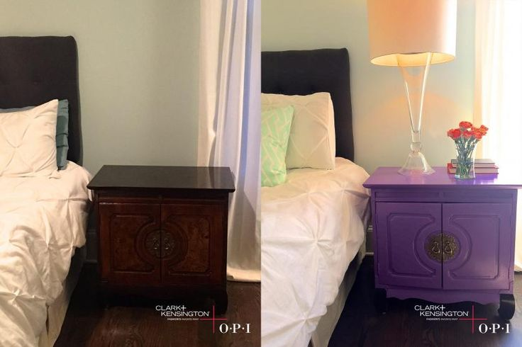 Bold Colors Brought this Piece from Drab to Fab - Looking for new ways to experiment with your favorite OPI colors? Check out how Ace Design Expert Katie Reynolds, used the OPI Palette by Clark+Kensington to transform her antique dresser using her favorite OPI shades!