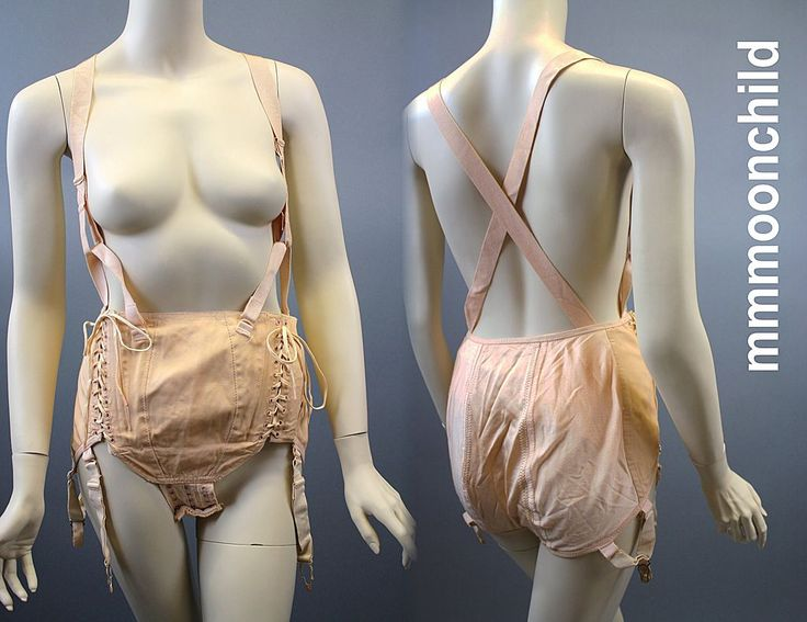Maternity corset from the 1920s to 1930s.  Cotton.
