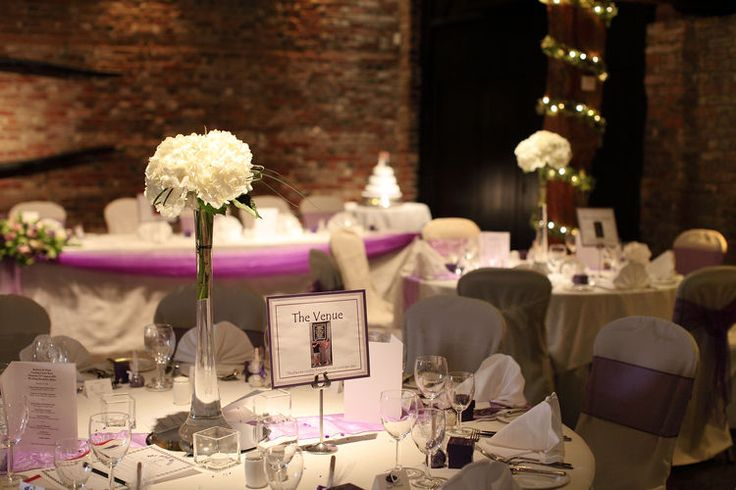 Wedding breakfast at Cooling Castle Barn