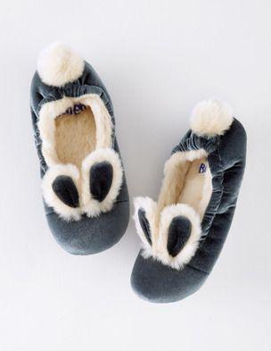 Velvet Bunny Slippers 39131 Slippers at Boden