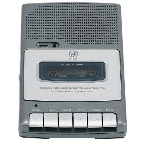 GE 3-5030 Compact Shoebox Cassette Recorder