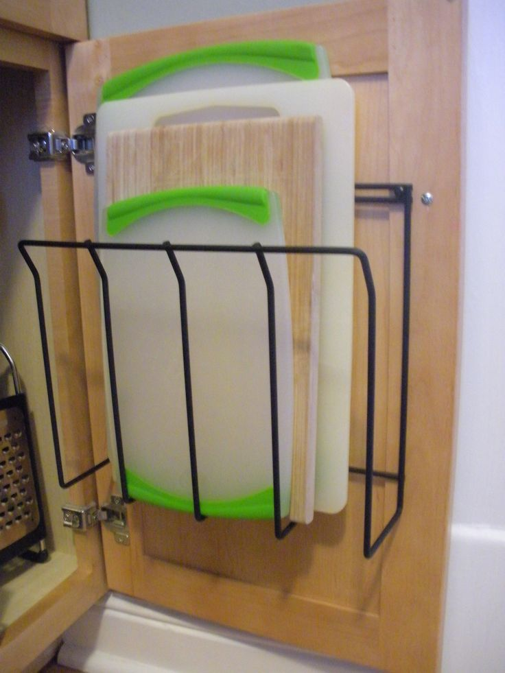 Storage and Organization Magazine   Simple Idea: Magazine Holder = In Cabinet Cutting Board Organization