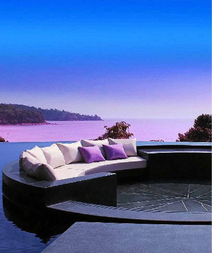 Wow-effect from this terrace! #CeramicaSantAgostino tiles, Pullman Phuket Arcadia Naithon Beach #holidays #pool #nature #designtiles #roomwithaview