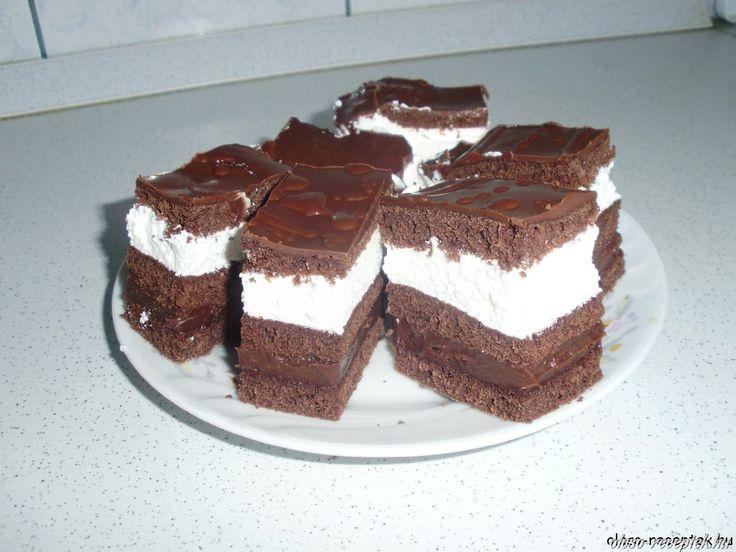 Csokis tejszínes szelet