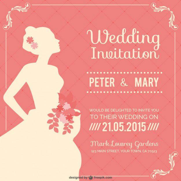 ウェディングドレス姿の花嫁の横顔をデザインした結婚式のベクターイラストテンプレート                                                                                                                                                                                 もっと見る