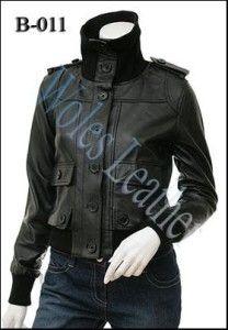 Model Jaket Kulit Wanita Bergaya Kasual; Material: 100% Kulit domba dan sapi Asli; Aksesoris: YKK Original