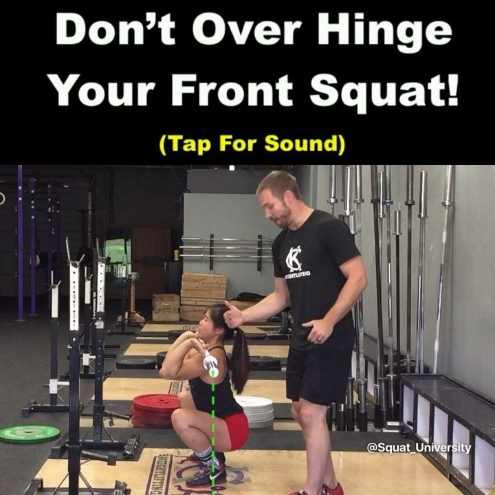 """5,613 Likes, 155 Comments - Squat University (@squat_university) on Instagram: """"When you take a huge hip hinge when front squatting two things happen. First, your chest pushes…"""""""