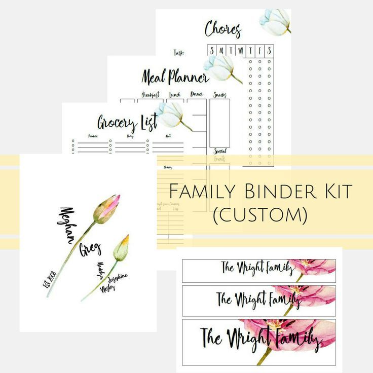 Start a Family Binder to get your get more organized. This Custom Binder Printables help keep everything in one place where you and reference and keep your home running more seamlessly. Perfect for Busy Moms to keep organized and help with delegating task