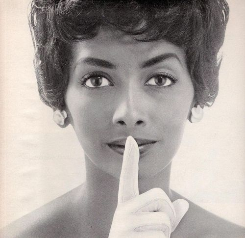 vintage everyday: Old Portrait of The First Well-known Black Model Helen Williams. 1960s