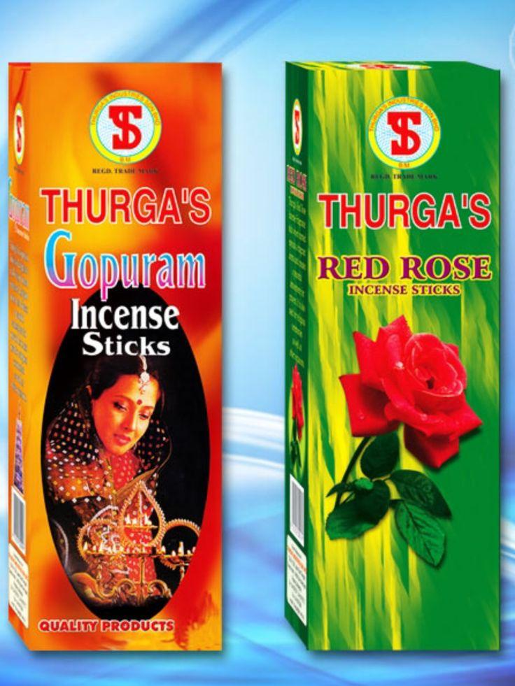 THURGA's Gopuram & Red Rose Incense $3 per packet available @ Qincense.com.au
