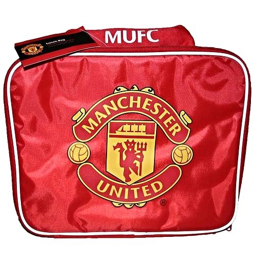 Manchester United Large Lunch Bag with Club Cres