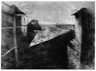 The first photograph - 'View from the Window at Le Gras' 1952, by Joseph Nicéphore Niépce.