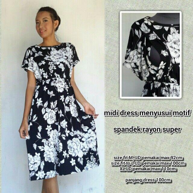 Saya menjual Baju Menyusui Midi dress murah Bunga by OLIN BAJU MENYUSUI seharga Rp90.000. Dapatkan produk ini hanya di Shopee! https://shopee.co.id/bajumenyusuioline/204048835 #ShopeeID