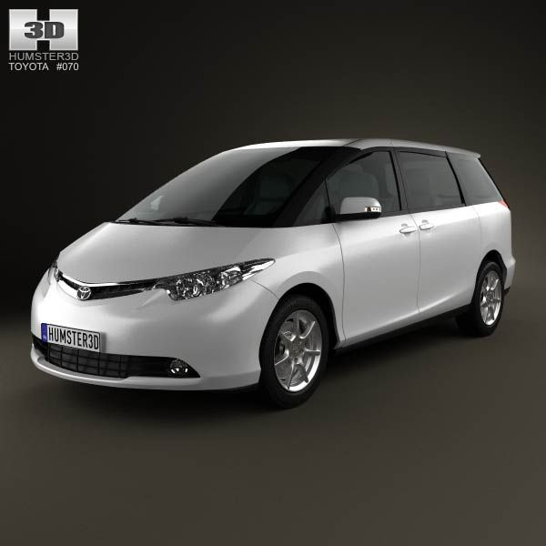 Toyota Previa 2012 3d model from humster3d.com. Price: $75