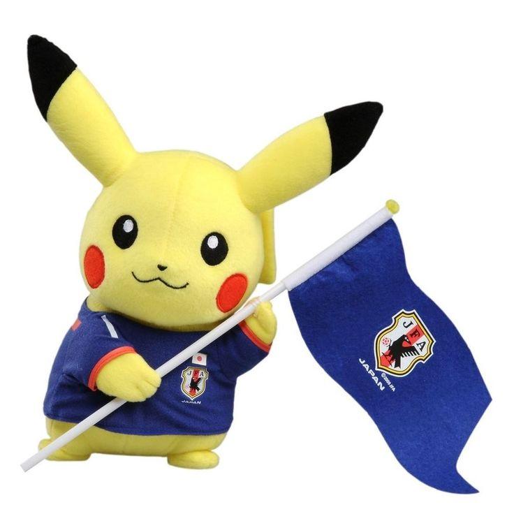 "【NEW】 Pokémon Pikachu Soft Plush B Type"" Soccer Football World Cup Japan Pokemon"