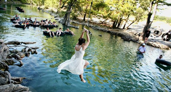 Texas Hill Country wedding venue | Seven Bluff Cabins - Concan, Texas on the Frio River
