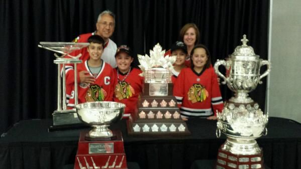 Look what lucky Blackhawks season ticket holders got to do today!