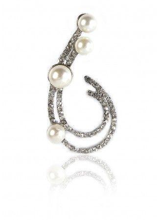 Modern 4 pearl broach