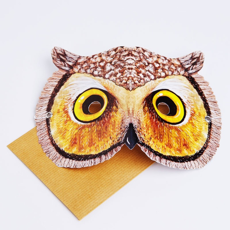 Be a mysterious and wise owl and go hoot hoot in the night!  Write your message on the back of the mask in the space provided. Then the person who receives it can wear it!