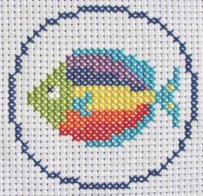 Rainbow Fish Cross Stitch Kit