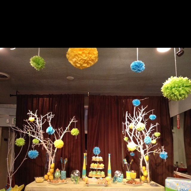 Baby shower ideas: Fall Shower, Baby Shower Ideas, Baby Brid Shower, Ideas Trees, Baby Boys, Trees Branches, Parties Ideas, Wish Trees, Baby Shower